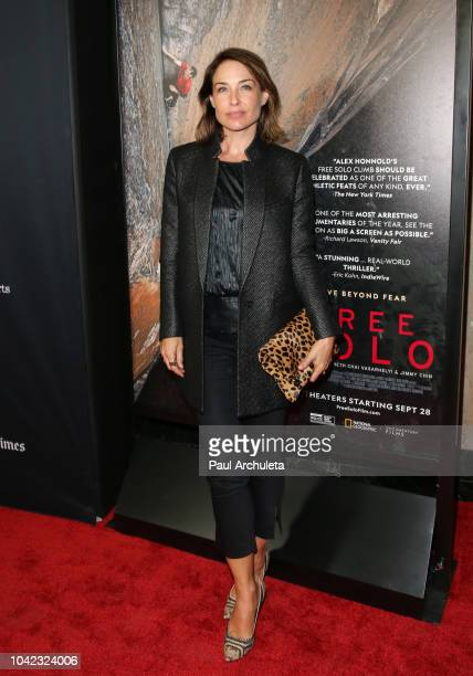 Actress Claire Forlani attends the screening of Free Solo at the 2018 LA Film Festival at the Wallis Annenberg Center for the Performing Arts on...