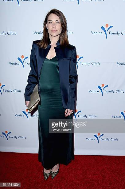 Actress Claire Forlani attends the Venice Family Clinic Silver Circle Gala 2016 honoring Brett Ratner and Bill Flumenbaum at The Beverly Hilton Hotel...
