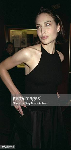 Actress Claire Forlani is on hand for premiere of movie 'Meet Joe Black' at the Ziegfeld Theater