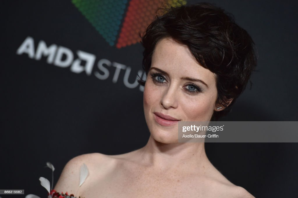 Actress Claire Foy arrives at the 2017 AMD British Academy Britannia Awards at The Beverly Hilton Hotel on October 27, 2017 in Beverly Hills, California.