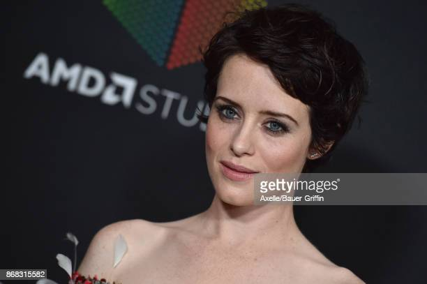 Actress Claire Foy arrives at the 2017 AMD British Academy Britannia Awards at The Beverly Hilton Hotel on October 27, 2017 in Beverly Hills,...