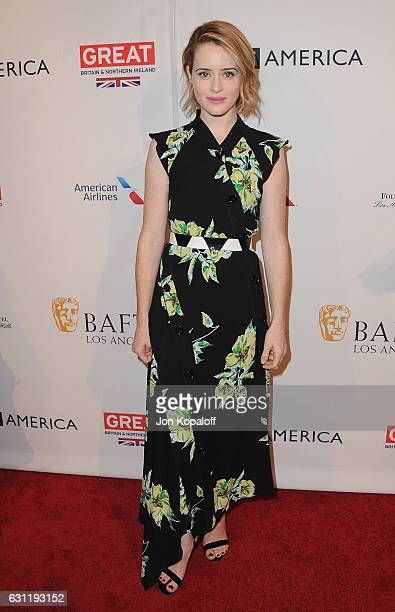 Actress Claire Foy arrives at The BAFTA Tea Party at Four Seasons Hotel Los Angeles at Beverly Hills on January 7 2017 in Los Angeles California