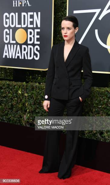 Actress Claire Foy arrives for the 75th Golden Globe Awards on January 7 in Beverly Hills California / AFP PHOTO / VALERIE MACON
