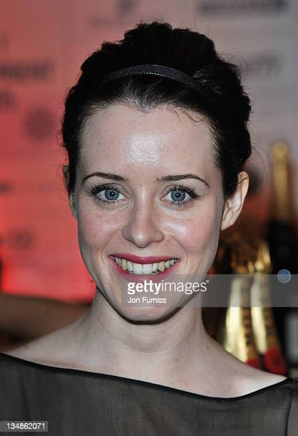 Actress Claire Foy arrives for the Moet British Independent Film Awards at Old Billingsgate Market on December 4 2011 in London England