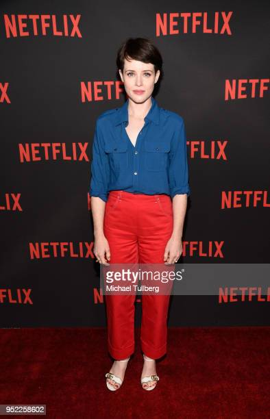 """Actress Claire Foy attends a For Your Consideration event for Netflix's """"The Crown"""" at Saban Media Center on April 27, 2018 in North Hollywood,..."""