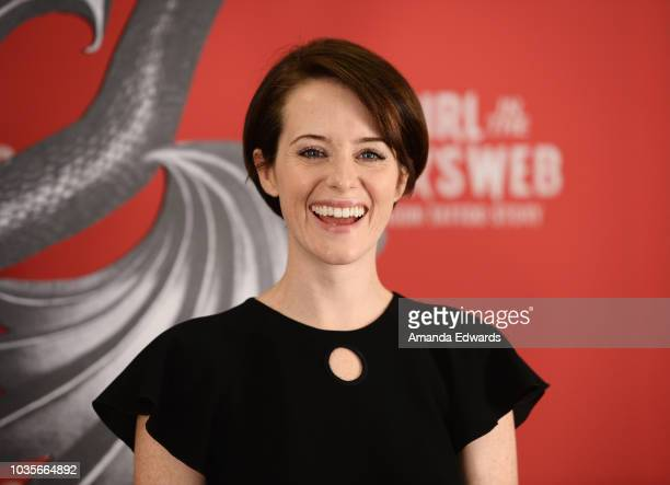 Fede Alvarez and Claire Foy attend 'Girl In The Spider's Web' Photo Call at Sony Pictures Studios on September 18 2018 in Culver City California