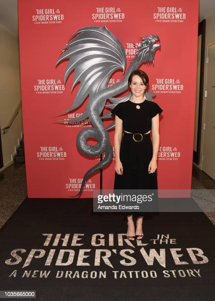 Actress Claire Foy attends a 'Girl In The Spider's Web' photo call at Sony Pictures Studios on September 18 2018 in Culver City California