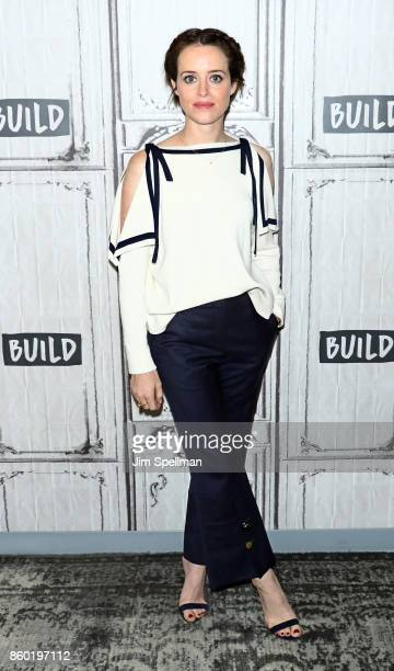 Actress Claire Foy attends Build to discuss Breatheat Build Studio on October 11 2017 in New York City