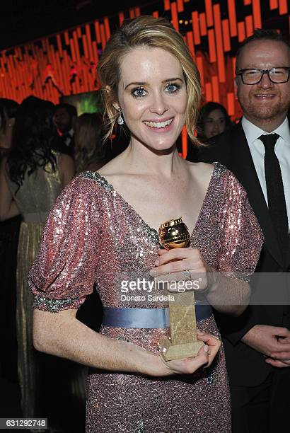 Actress Claire Foy attends The 2017 InStyle and Warner Bros 73rd Annual Golden Globe Awards PostParty at The Beverly Hilton Hotel on January 8 2017...