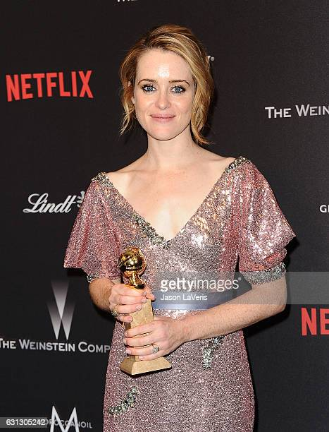 Actress Claire Foy attends the 2017 Weinstein Company and Netflix Golden Globes after party on January 8 2017 in Los Angeles California