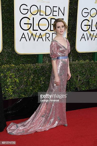 Actress Claire Foy attends the 74th Annual Golden Globe Awards held at The Beverly Hilton Hotel on January 8 2017 in Beverly Hills California