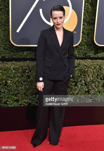 Actress Claire Foy attends the 75th Annual Golden Globe Awards at The Beverly Hilton Hotel on January 7 2018 in Beverly Hills California
