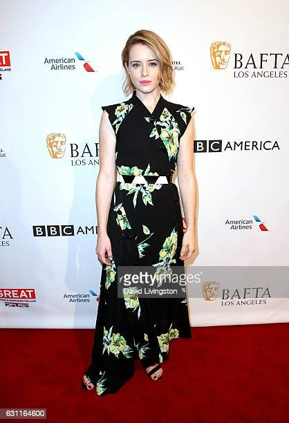 Actress Claire Foy attends The BAFTA Tea Party at Four Seasons Hotel Los Angeles at Beverly Hills on January 7 2017 in Los Angeles California