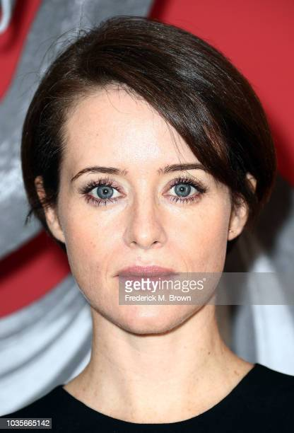 Actress Claire Foy attends the 'Girl in The Spider's Web' photo call at Sony Pictures Studios on September 18 2018 in Culver City California