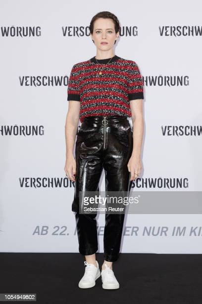 Actress Claire Foy attends the photo call for the film 'Verschwoerung' at Grand Hyatt Hotel on October 29 2018 in Berlin Germany