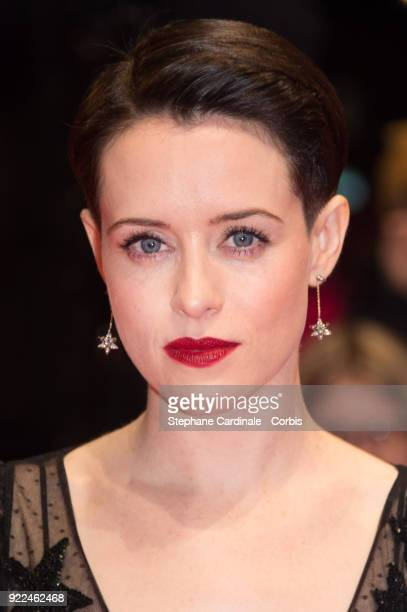 Actress Claire Foy attends the 'Unsane' premiere during the 68th Berlinale International Film Festival Berlin at Berlinale Palast on February 21 2018...