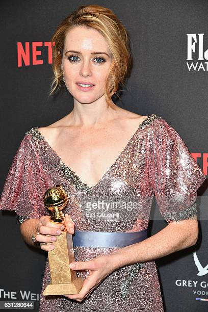 Actress Claire Foy attends The Weinstein Company and Netflix Golden Globe Party presented with FIJI Water Grey Goose Vodka Lindt Chocolate and...