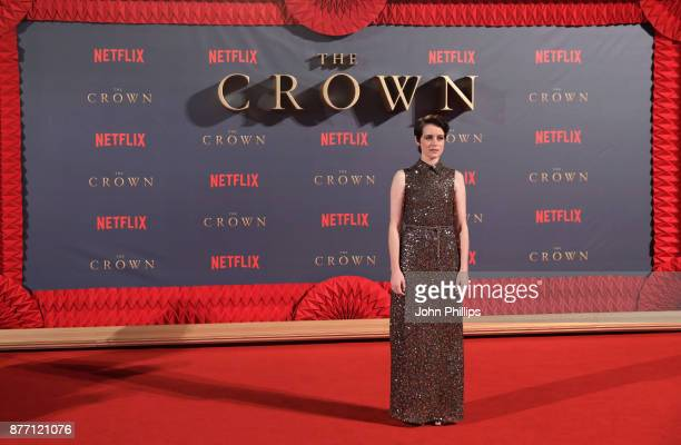 Actress Claire Foy attends the World Premiere of season 2 of Netflix The Crown at Odeon Leicester Square on November 21 2017 in London England
