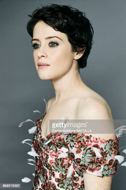 Actress Claire Foy is photographed at the 2017 AMD British Academy Britannia Awards on October 27 2017 in Los Angeles California