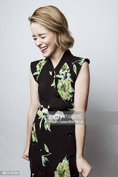 Actress Claire Foy poses for a portraits at the BAFTA Tea Party at Four Seasons Hotel Los Angeles at Beverly Hills on January 7 2017 in Los Angeles...