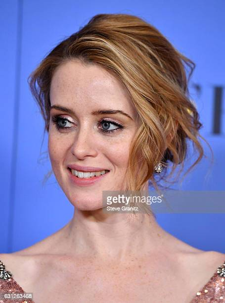 Actress Claire Foy poses in the press room during the 74th Annual Golden Globe Awards at The Beverly Hilton Hotel on January 8 2017 in Beverly Hills...