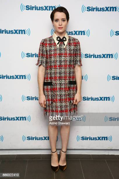 Actress Claire Foy visits the SiriusXM studios on December 5 2017 in New York City