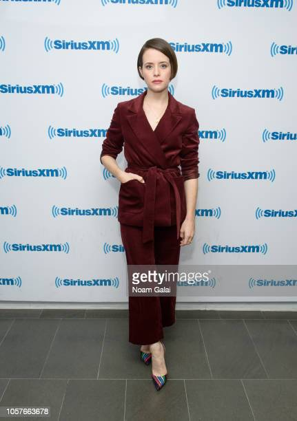 Actress Claire Foy visits the SiriusXM Studios on November 5 2018 in New York City