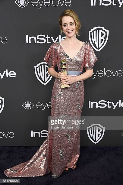 Actress Claire Foy winner of the Best Performance by an Actress in a Television Series Drama for 'The Crown' attends the 18th Annual PostGolden...