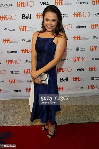 Actress Claire Glassford attends 'The Family Fang' premiere during the 2015 Toronto International Film Festival at the Winter Garden Theatre on...