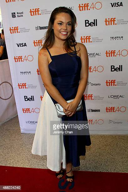 """Actress Claire Glassford attends """"The Family Fang"""" premiere during the 2015 Toronto International Film Festival at the Winter Garden Theatre on..."""