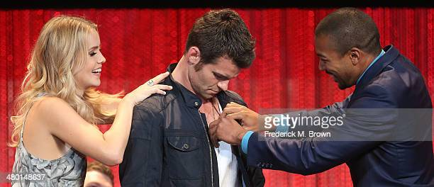 """Actress Claire Holt, actor Daniel Gillies and actor Charles Michael Davis attend The Paley Center for Media's PaleyFest 2014 Honoring """"The Vampire..."""