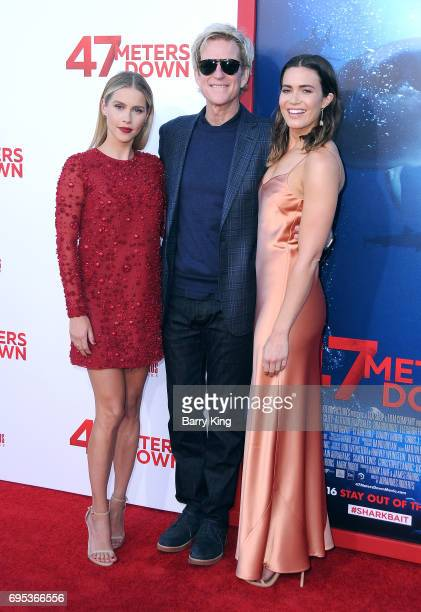 Actress Claire Holt actor Matthew Modine and actress Mandy Moore attend the Premiere of Dinemsion Films' '47 Meters Down' at Regency Village Theatre...