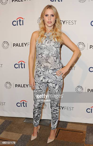 Actress Claire Holt arrives at the 2014 PaleyFest The Vampire Diaries The Originals on March 22 2014 in Hollywood California