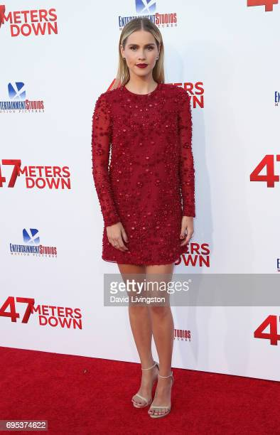 Actress Claire Holt attends the premiere of Dimension Films' '47 Meters Down' at Regency Village Theatre on June 12 2017 in Westwood California