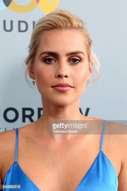 Actress Claire Holt attends the premiere of NBC's Aquarius Season 2 held at The Paley Center for Media on June 16 2016 in Beverly Hills California