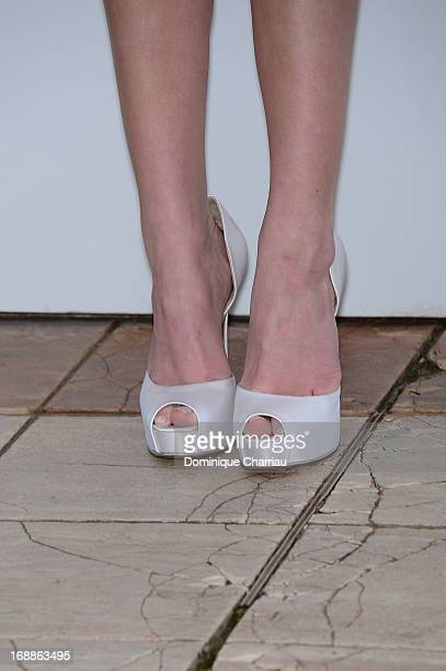 Actress Claire Julien attends the photocall for 'The Bling Ring' during the 66th Annual Cannes Film Festival at Palais des Festivals on May 16, 2013...