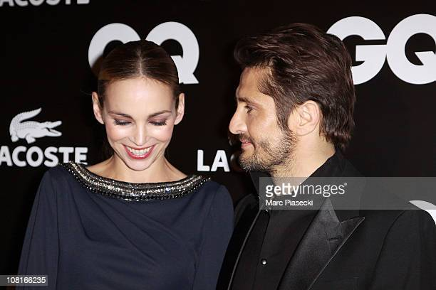 Actress Claire Keim and Bixente Lizarazu attend the 'GQ Man of the year 2010' at ShangriLa Hotel Paris on January 19 2011 in Paris France