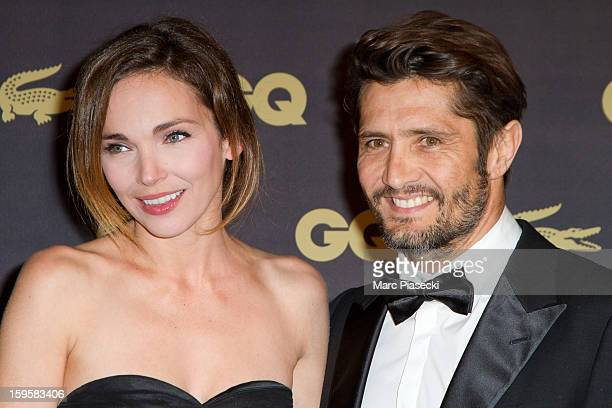 Actress Claire Keim and Bixente Lizarazu attend the GQ Men of the Year 2012 at Musee d'Orsay on January 16 2013 in Paris France
