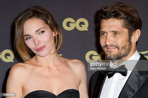 Actress Claire Keim and Bixente Lizarazu attend the GQ Men of the Year 2012 at Musee d'Orsay on January 16, 2013 in Paris, France.