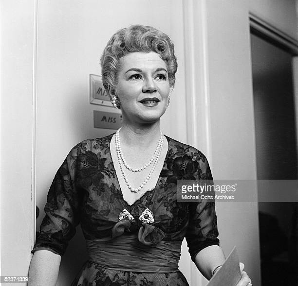 Actress Claire Trevor attends the Oscar Nominations party in Los AngelesCA