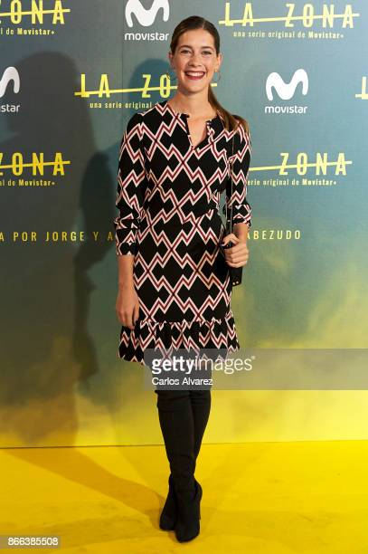 Actress Clara Alonso attends 'La Zona' premiere at the Capitol cinema on October 25 2017 in Madrid Spain