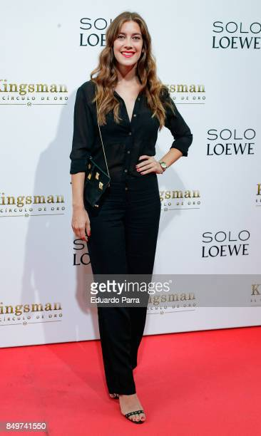 Actress Clara Alonso attends the 'Kingsman El Circulo De Oro' premiere at Callao cinema on September 19 2017 in Madrid Spain