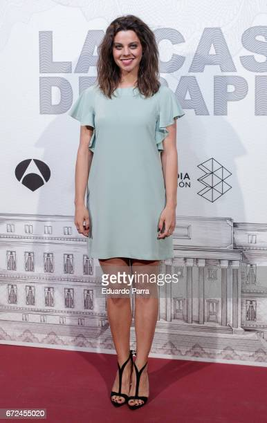 Actress Clara Alvarado attends the 'La casa de papel' photocall at Gran Via cinema on April 24 2017 in Madrid Spain