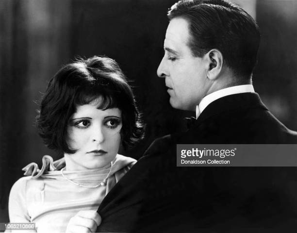 Actress Clara Bow and Conway Tearle in a scene from the movie Dancing Mothers