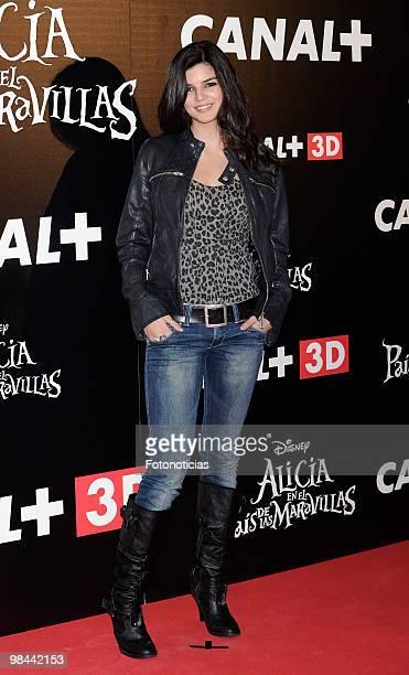 Actress Clara Lago attends 'Alicia en el Pais de las Maravillas' premiere at Proyecciones Cinema on April 13 2010 in Madrid Spain