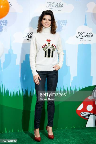 Actress Clara Lago attends 'Redondea Sonrisas' campaign party at Kiehl's boutique on December 04 2018 in Madrid Spain