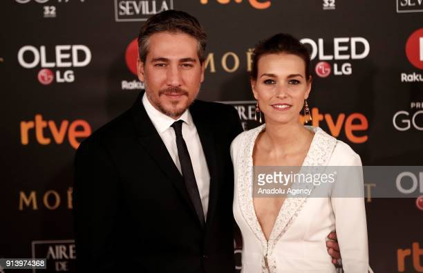Actress Clara Mendez and actor Alberto Ammann attend the 32th edition of the Goya Awards ceremony in Madrid Spain on February 04 2018