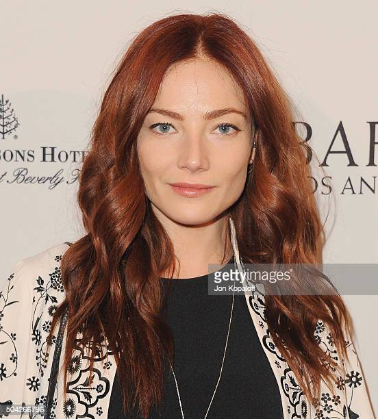 Actress Clara Paget arrives at BAFTA Los Angeles Awards Season Tea at Four Seasons Hotel Los Angeles at Beverly Hills on January 9 2016 in Los...