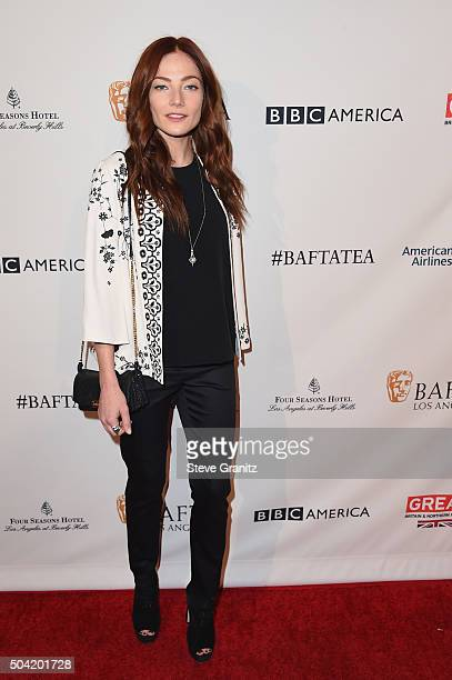 Actress Clara Paget attends the BAFTA Los Angeles Awards Season Tea at Four Seasons Hotel Los Angeles at Beverly Hills on January 9 2016 in Los...