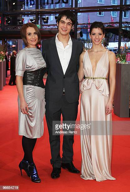 Actress Clara Voda actor George Pistereanu and actress Ada Condeescu attend the 'Eu Cand Vreau Sa Fluier Fluier' Premiere during day three of the...